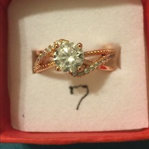 Jewelry - Rose Gold Plated Engagement Ring.